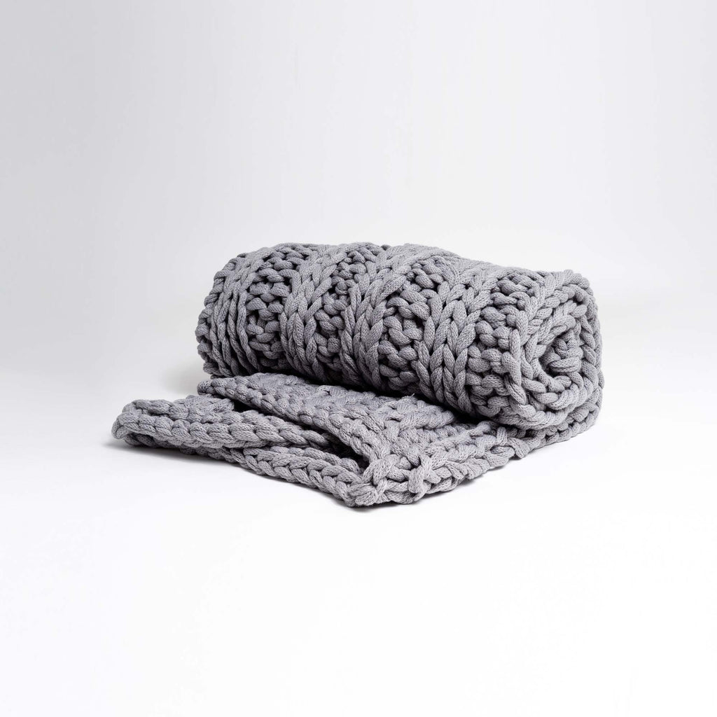 Essential Chunky Knit Throw Blanket