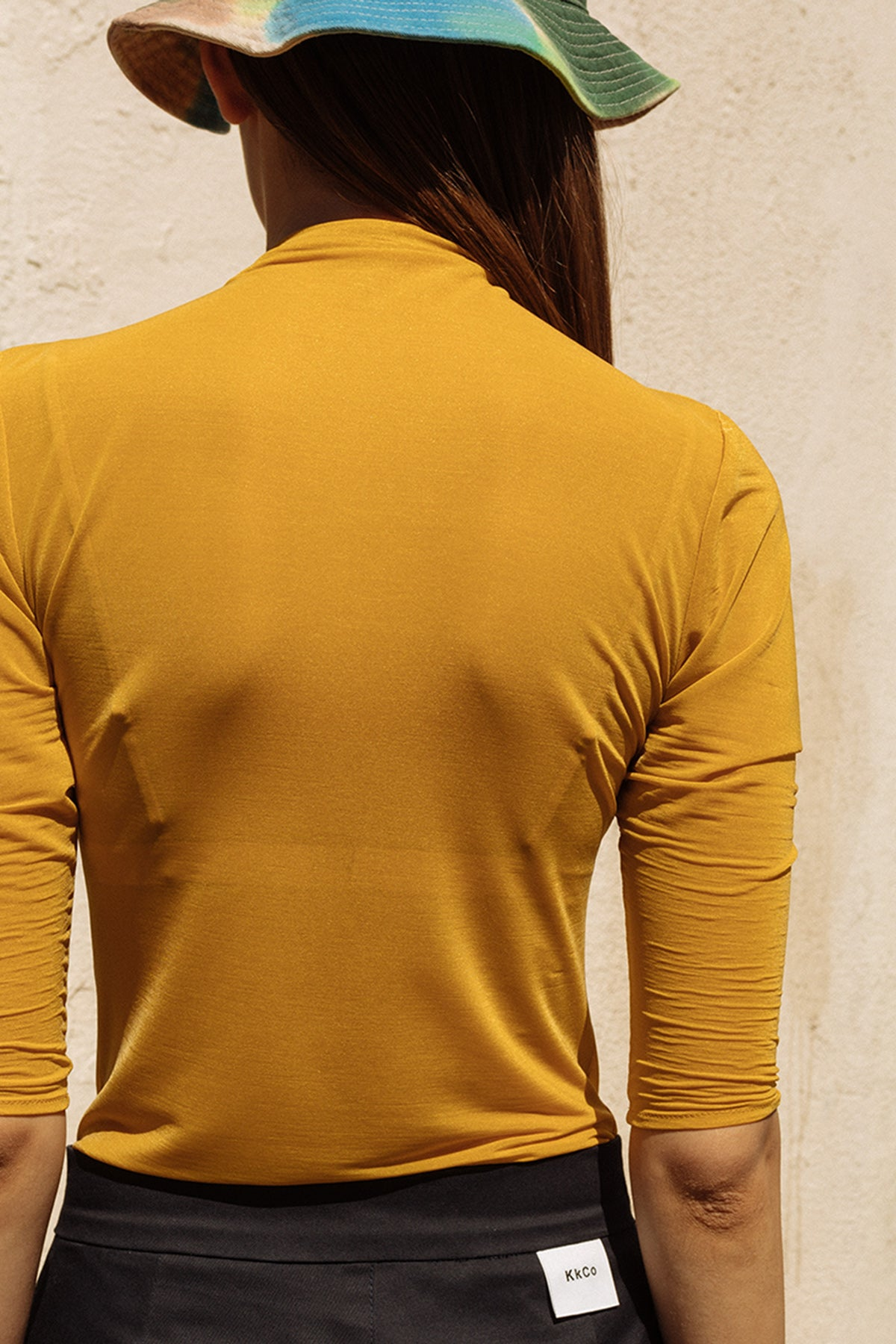 Transparent Knit in Mustard