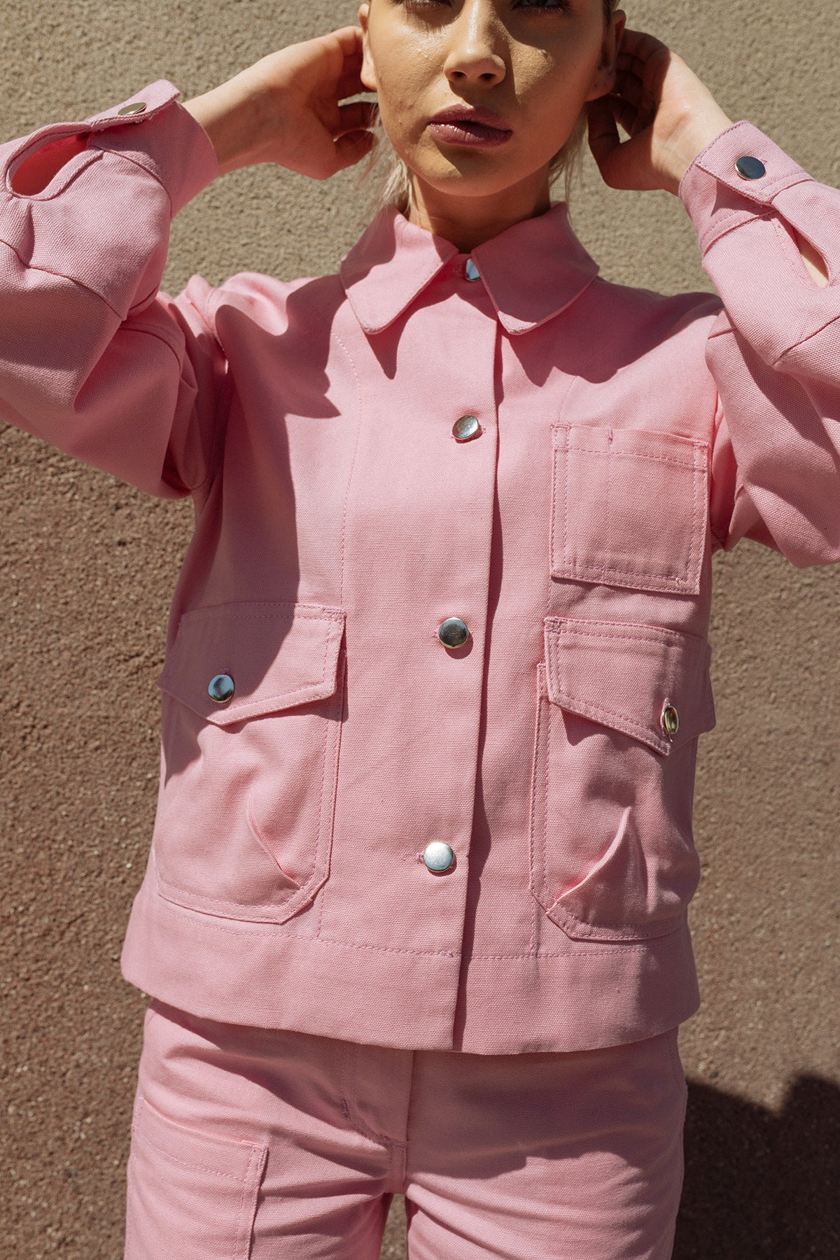 Utility Jacket in Hibiscus