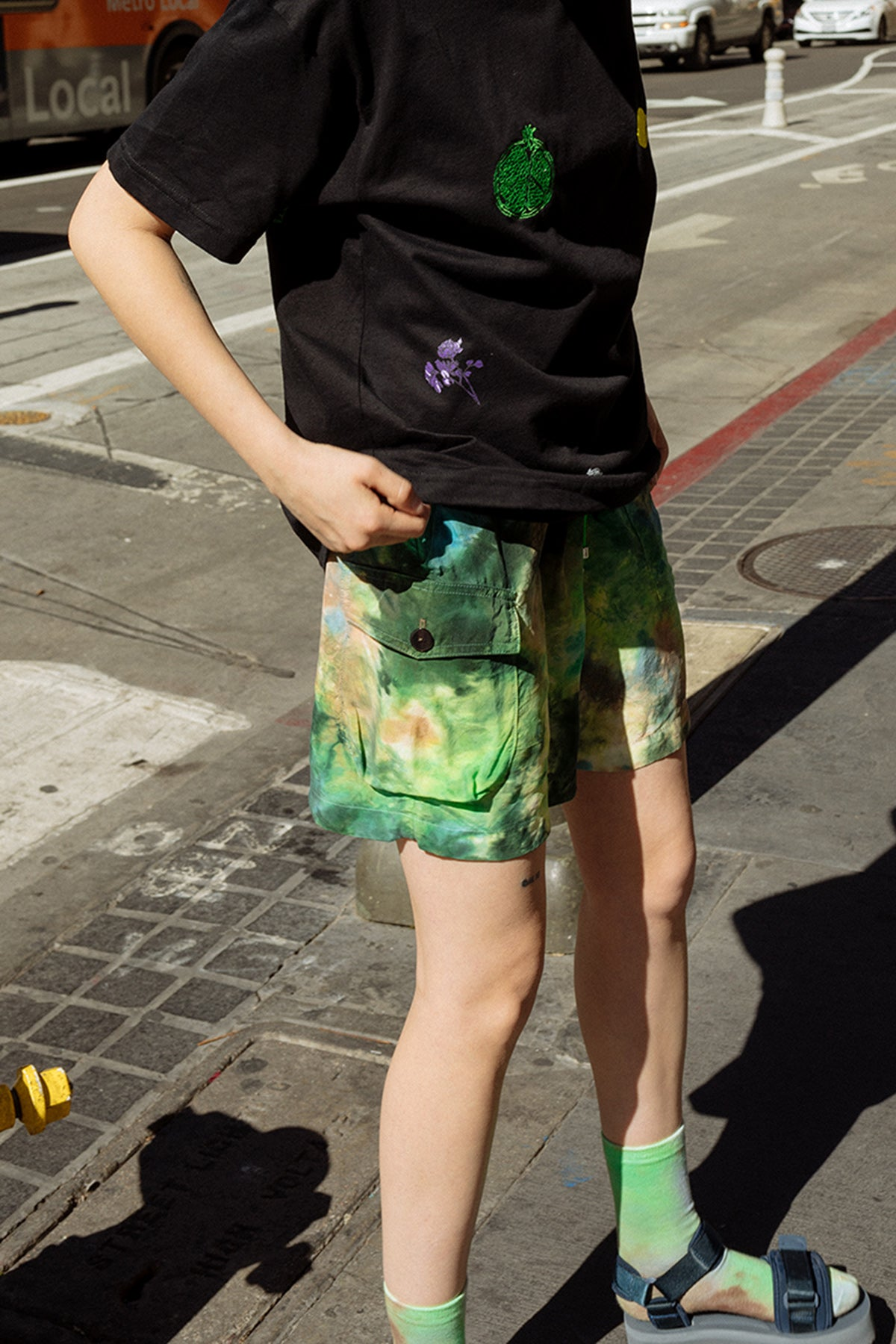 Camp Short in Earth Tie-Dye