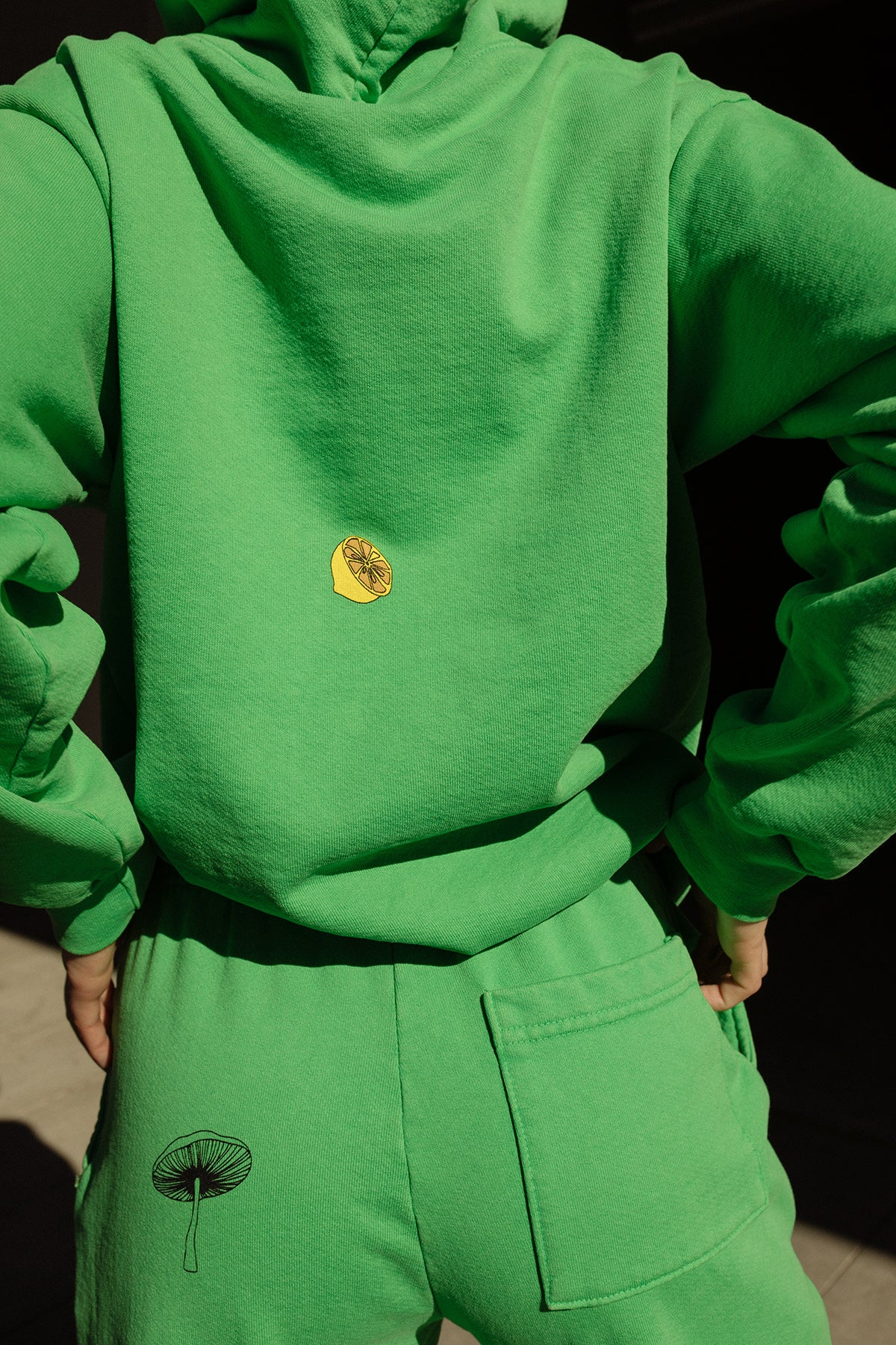 Forage Hoodie in Lime