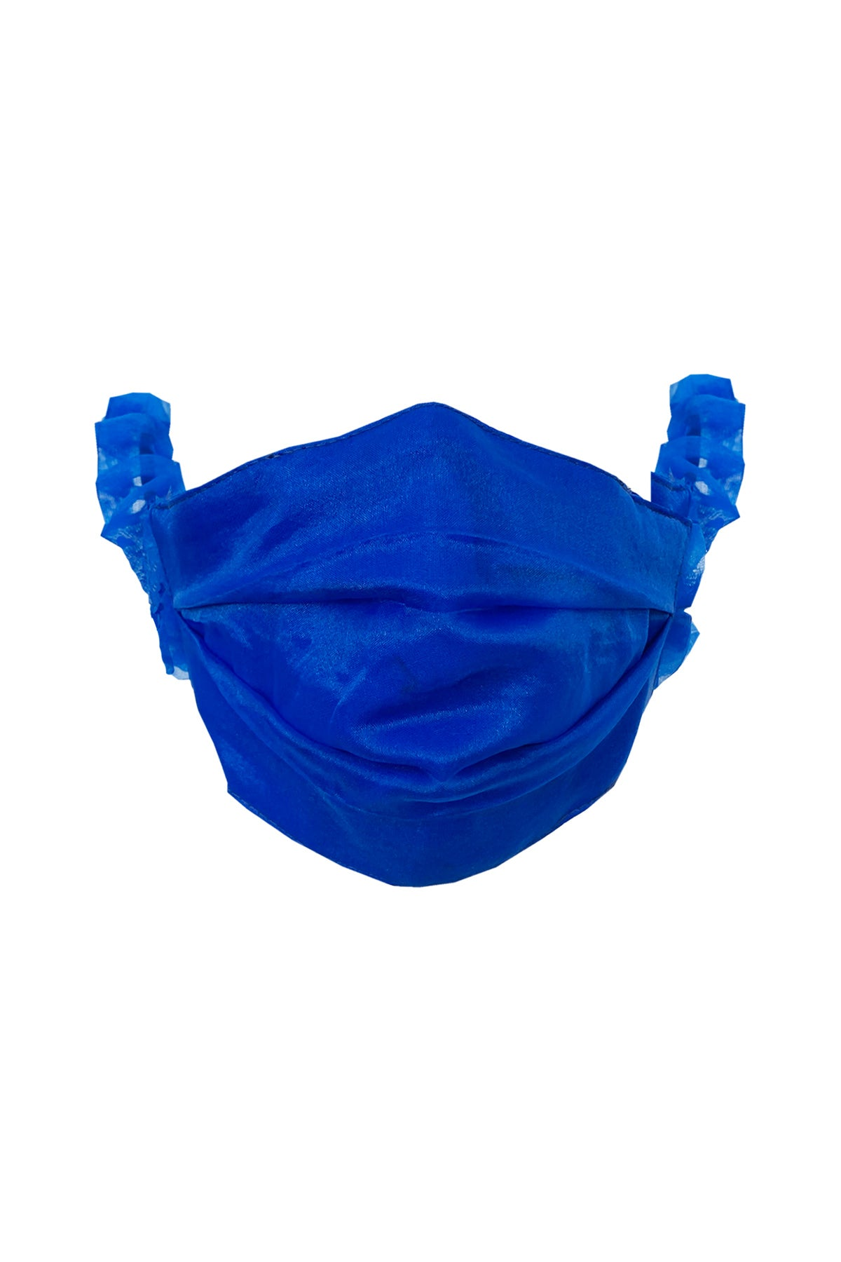 Face Mask in Cobalt Organza
