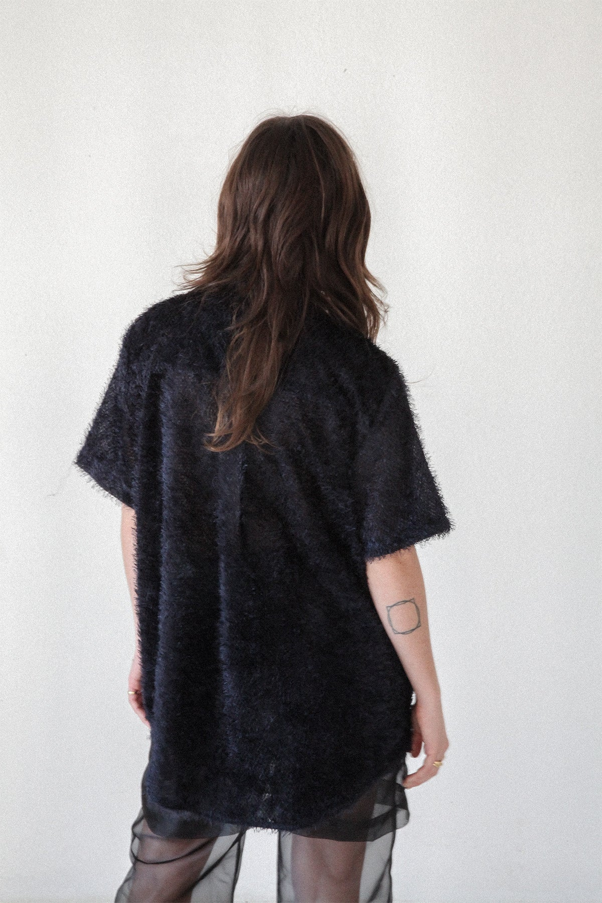 Boy Shirt in Fuzzy Jacquard