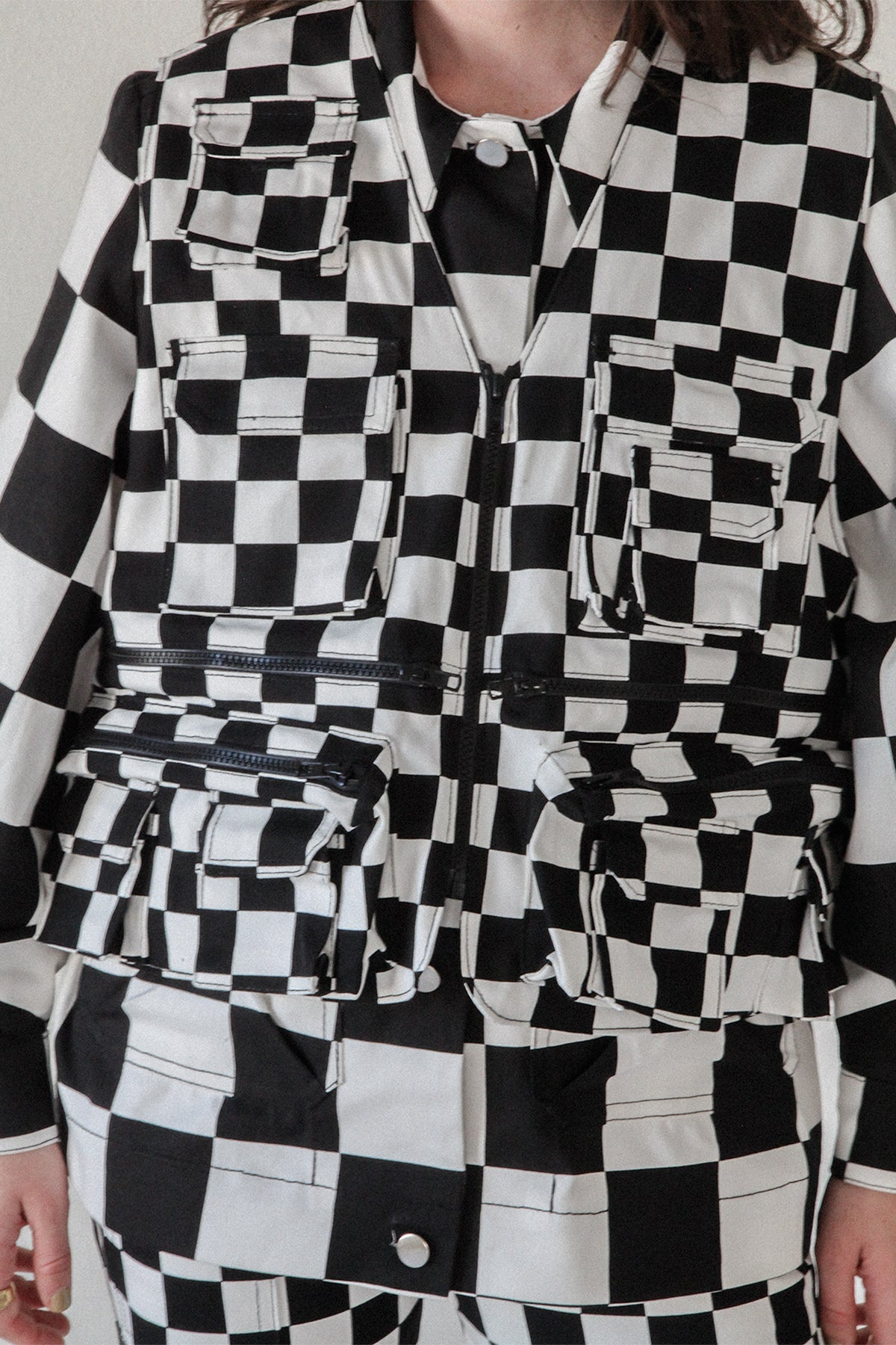 Utility Vest in Checker