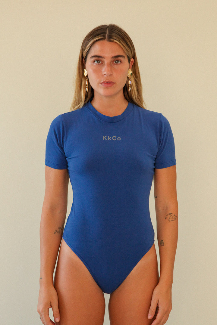 Short Sleeve Bodysuit in Cobalt