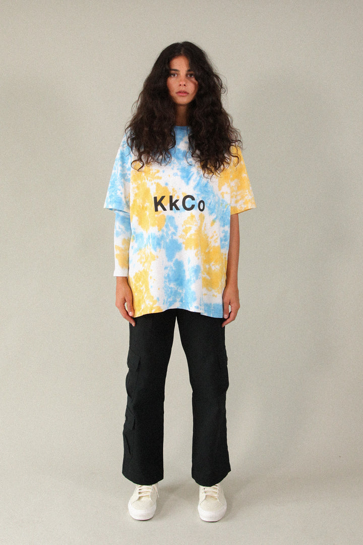 Boy Tee in Cloud Tie-Dye