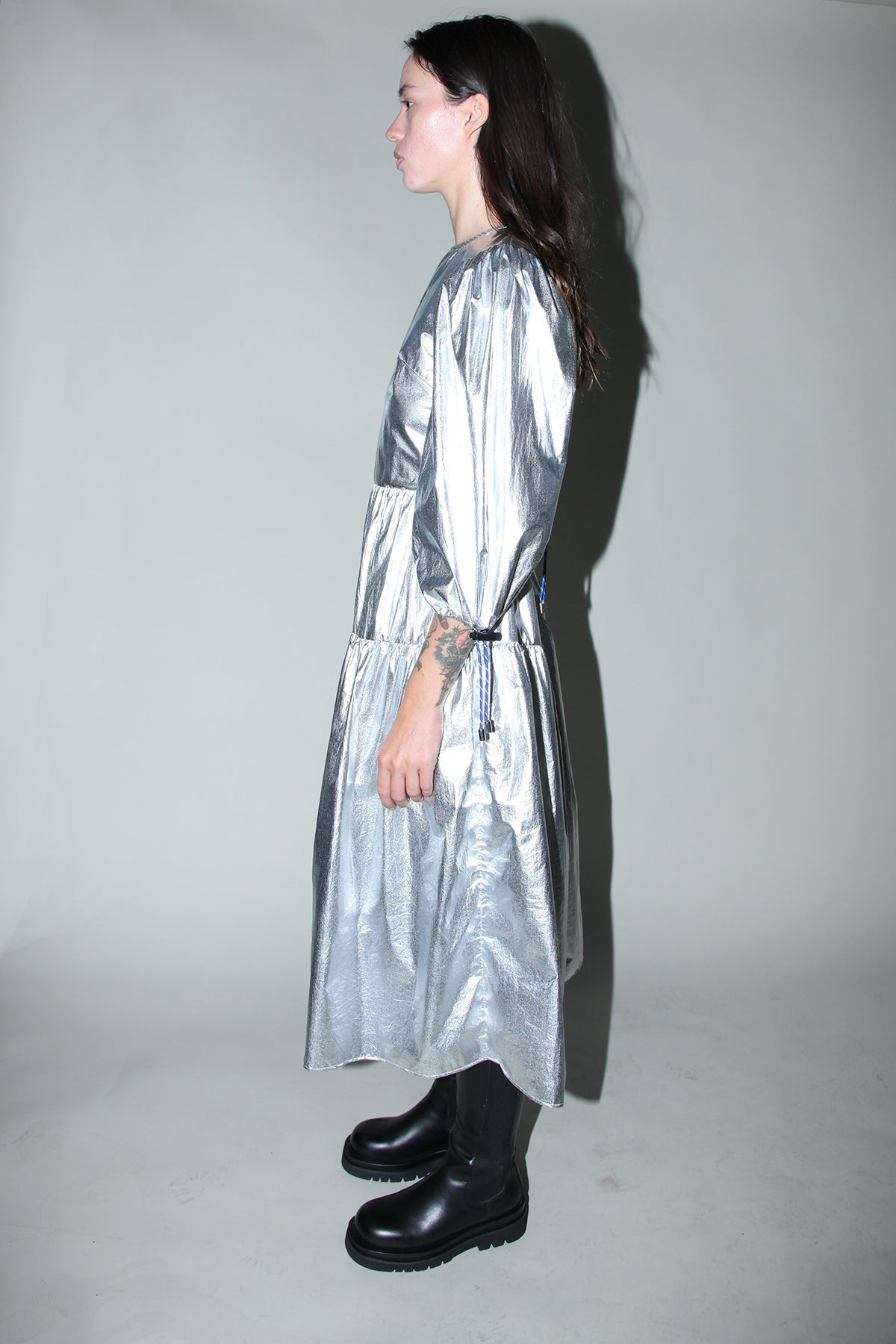 Hus Dress in Space Foil