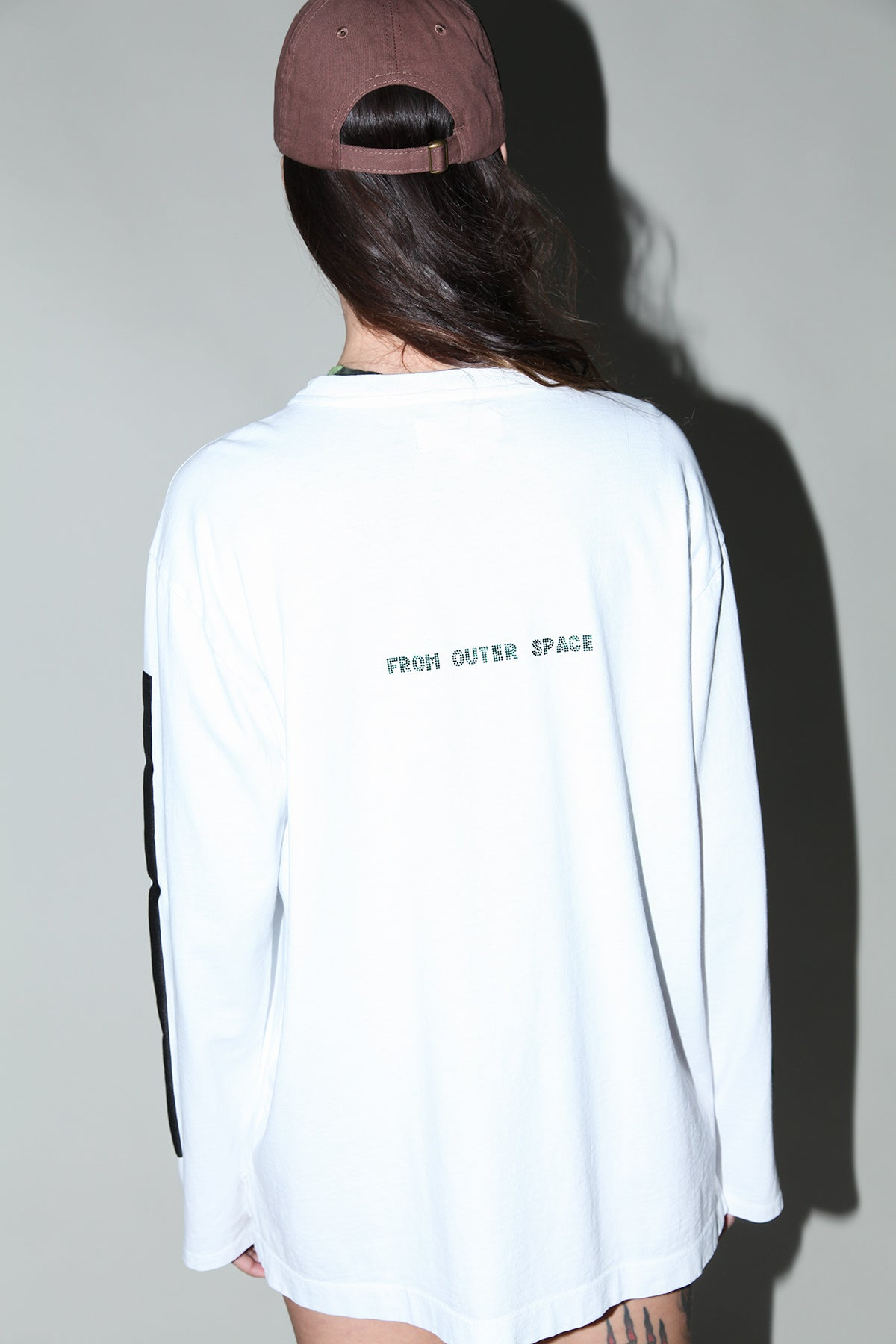 Rhinestone 'From Outer Space' Tee in White