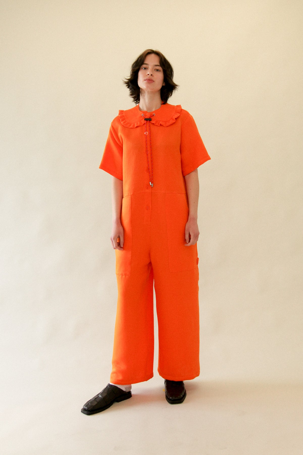Utility Jumpsuit in Clementine