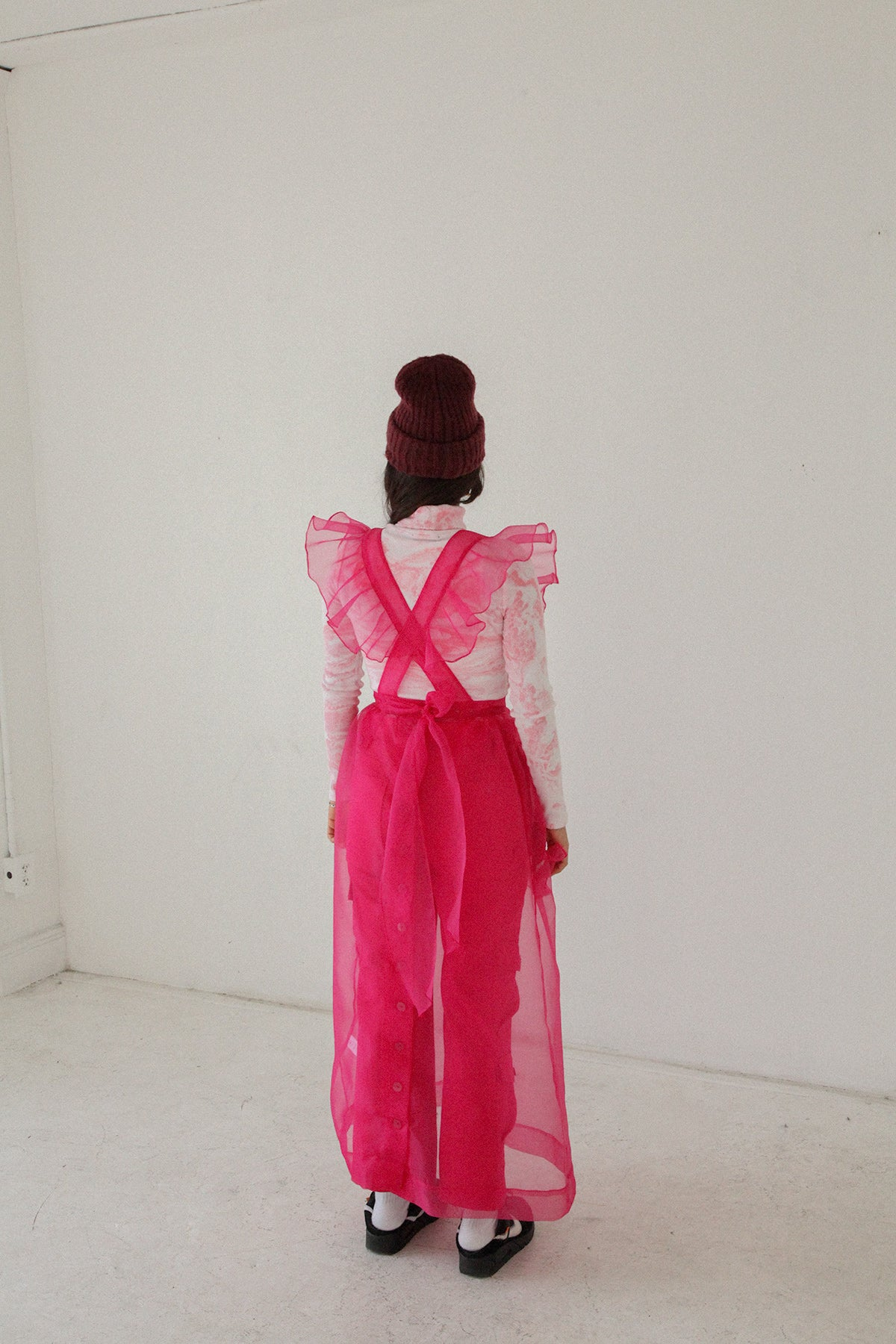 Apron Dress in Fuchsia