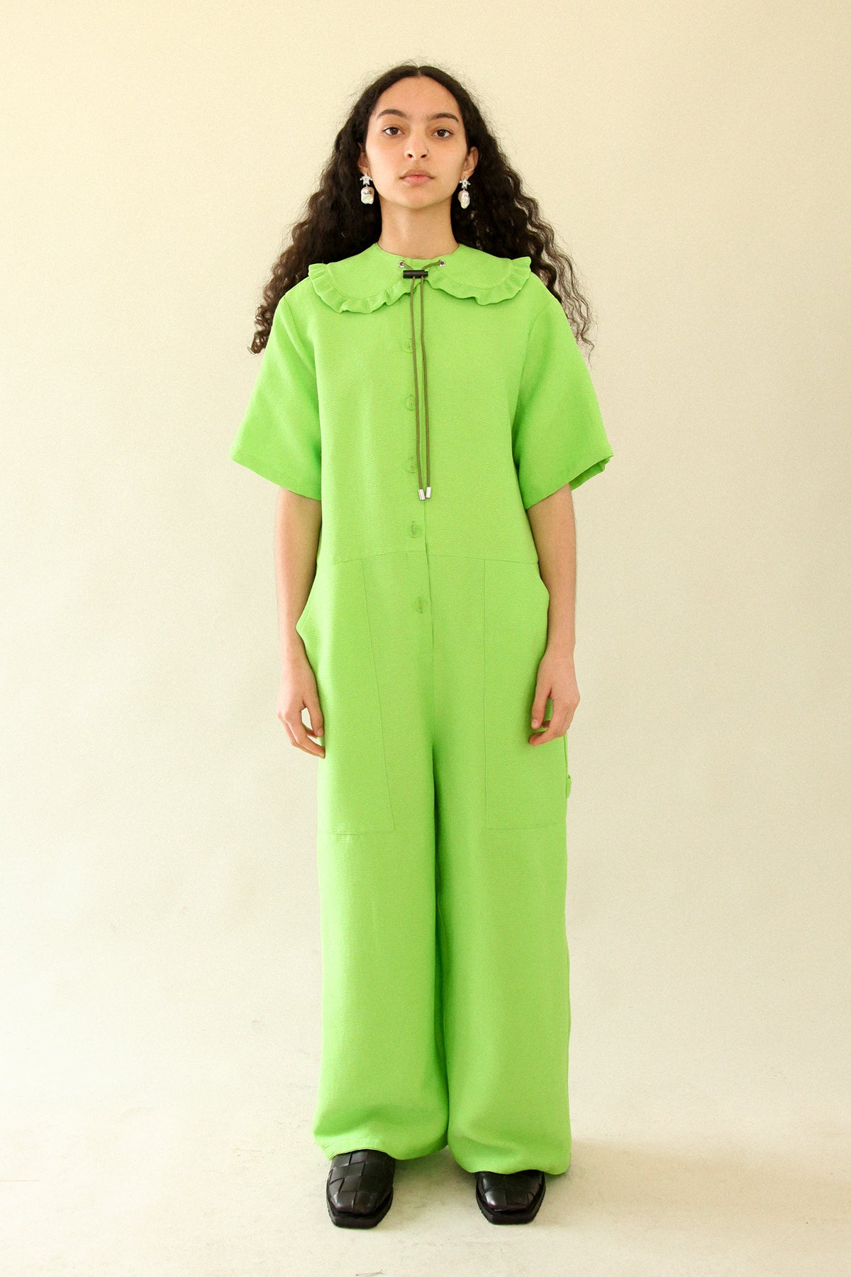Utility Jumpsuit in Key Lime
