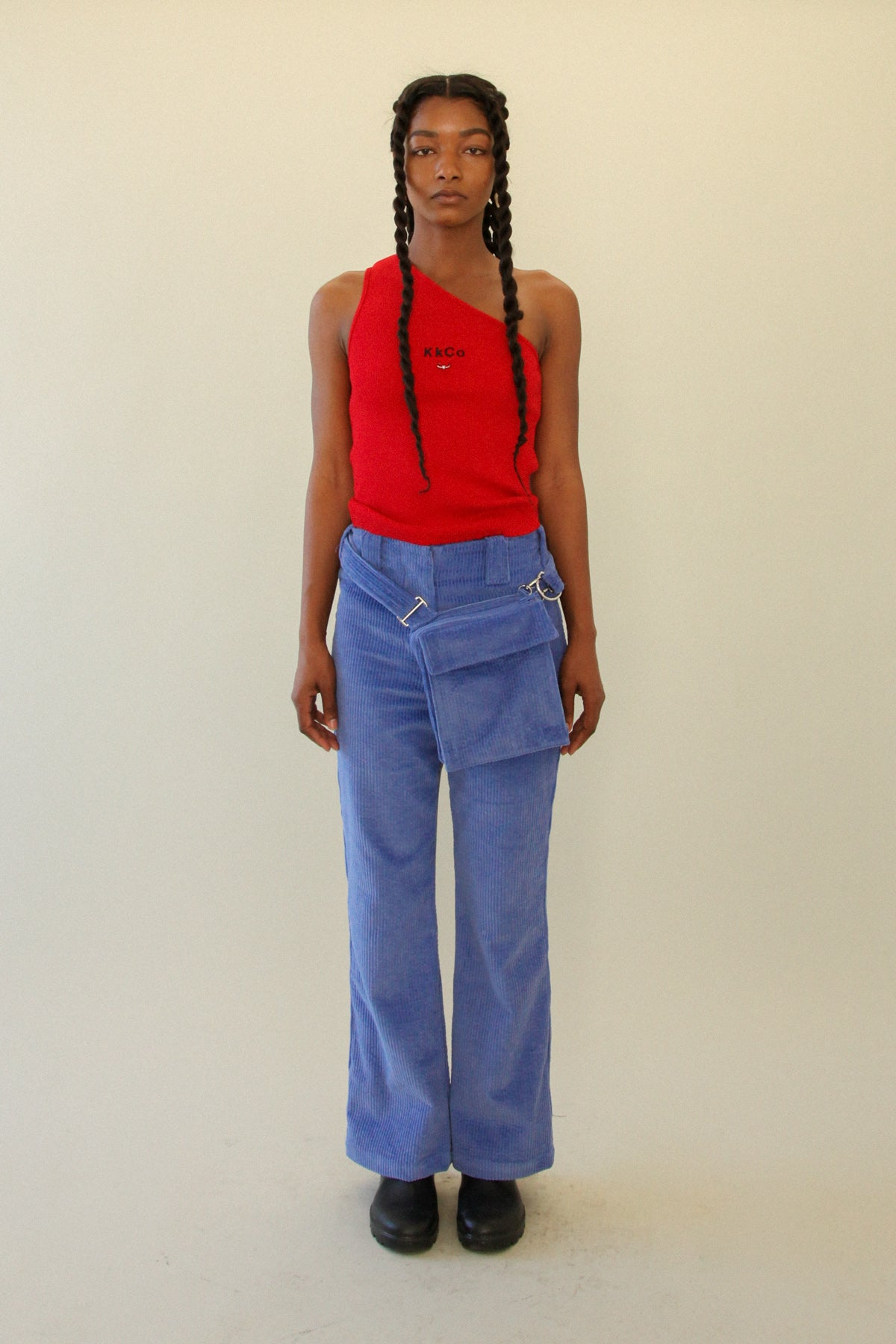 The Bag Pant in Blueberry Corduroy *PRE-ORDER*