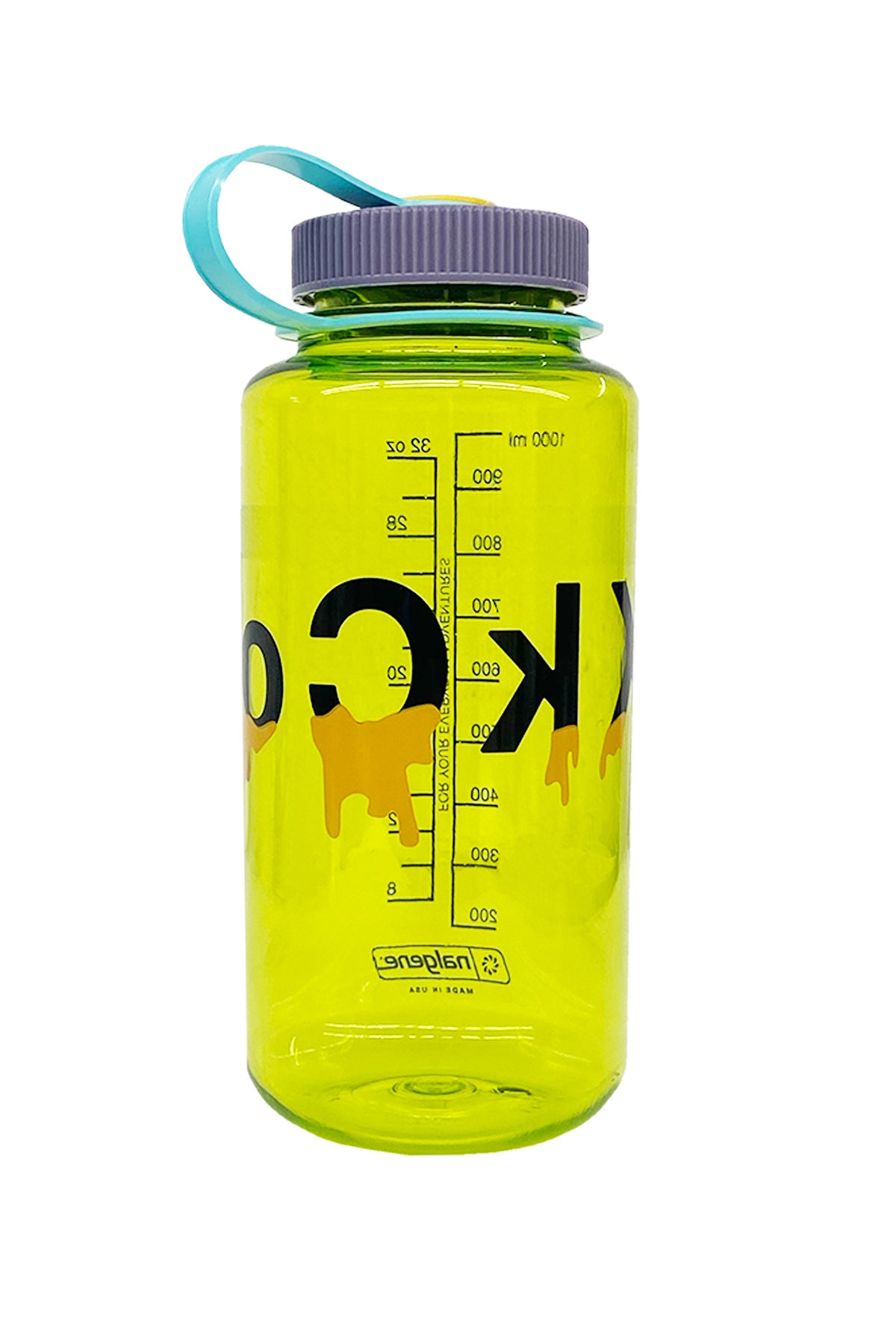 32oz KkCo Drip Nalgene in Lime