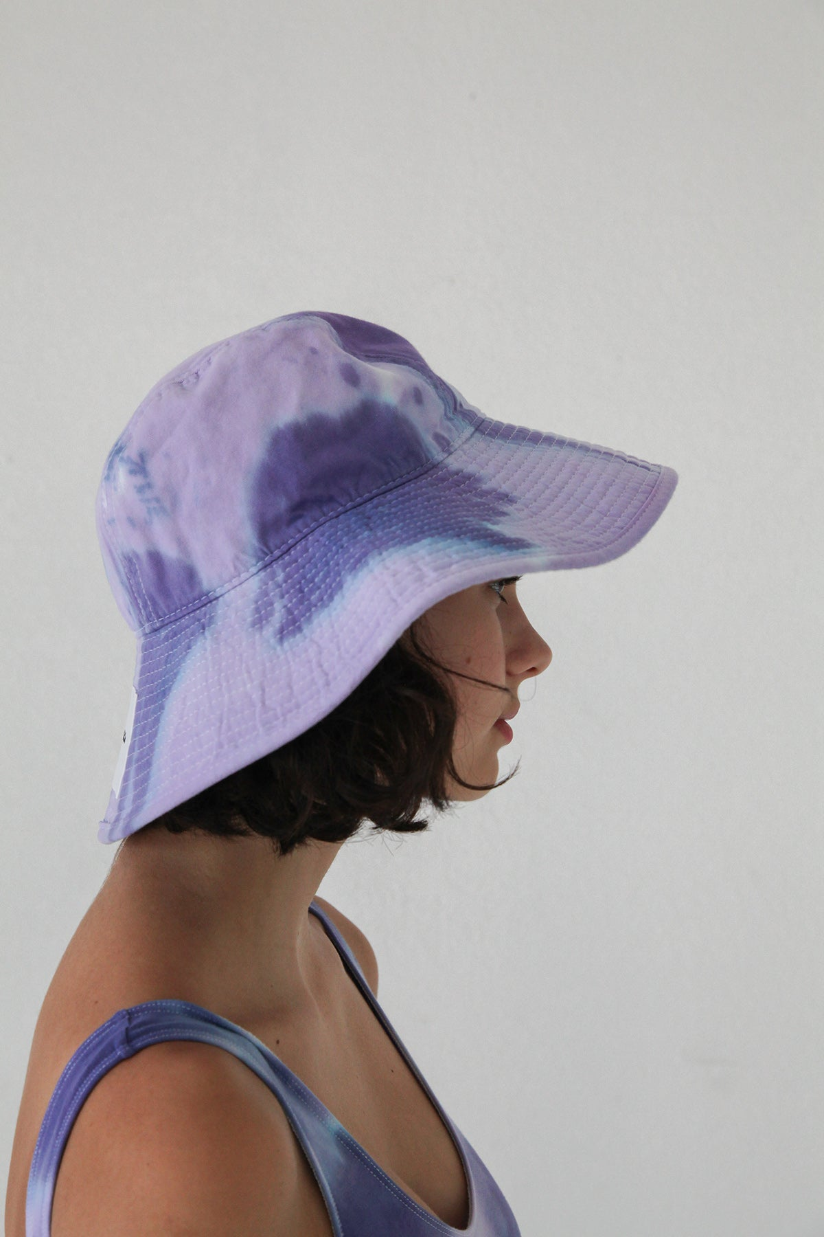 Vacationer Hat in Grape Tie-Dye
