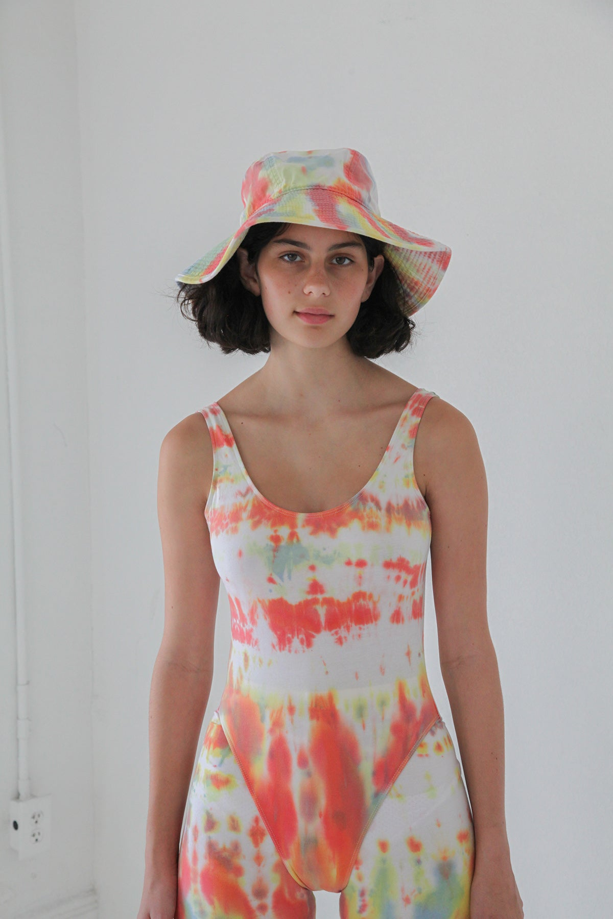 Vacationer Hat in Lichen Tie-Dye