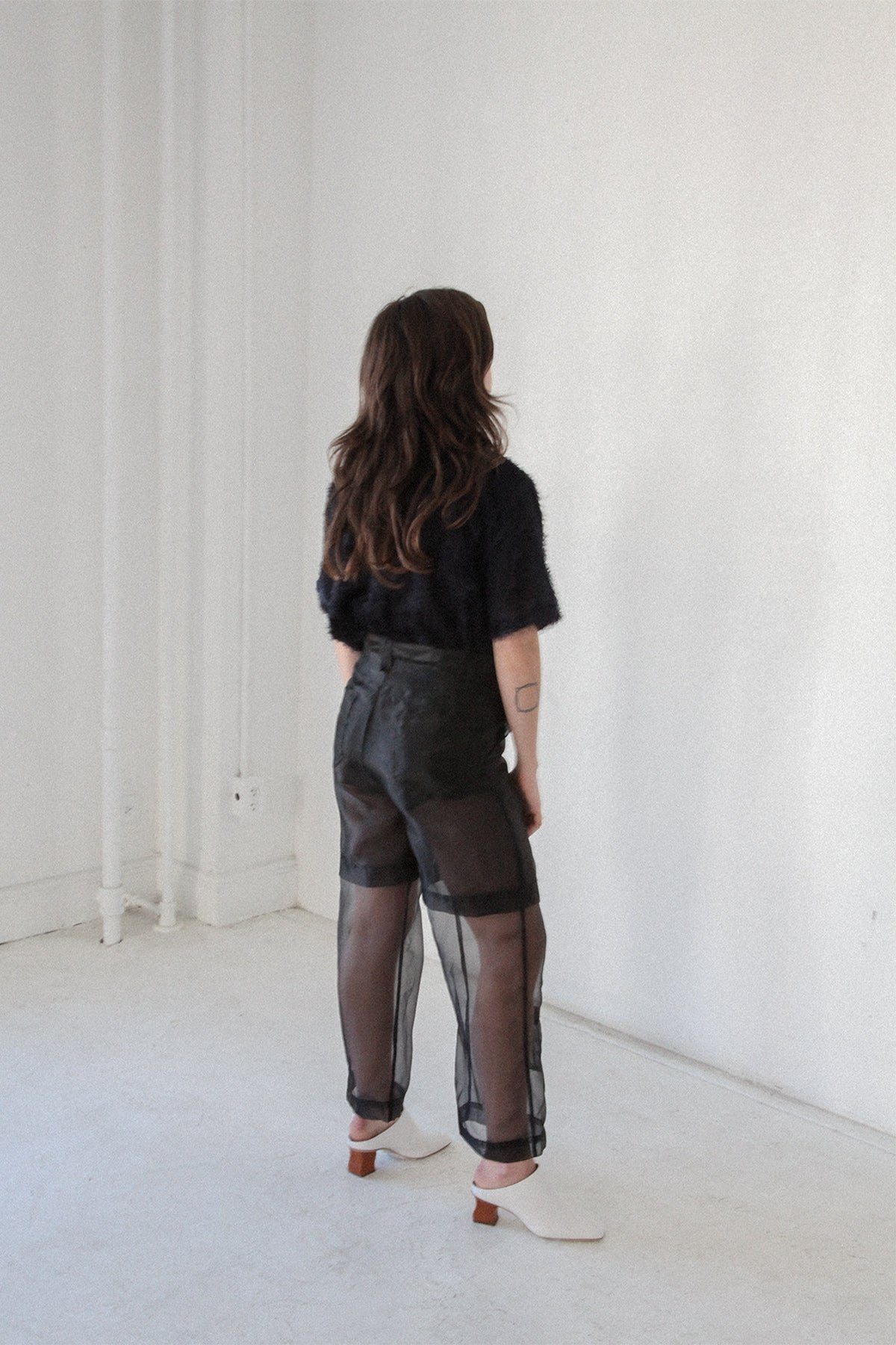 Layered Pant Black Organza