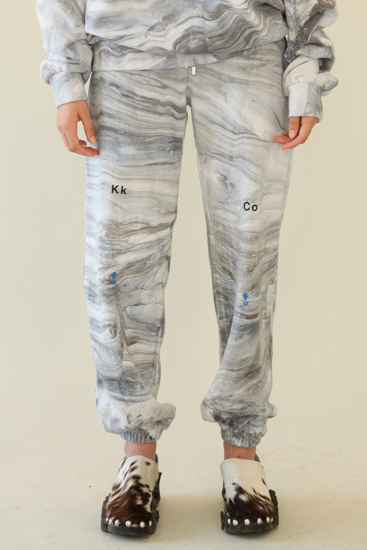 Sweatpant in Marble Dye