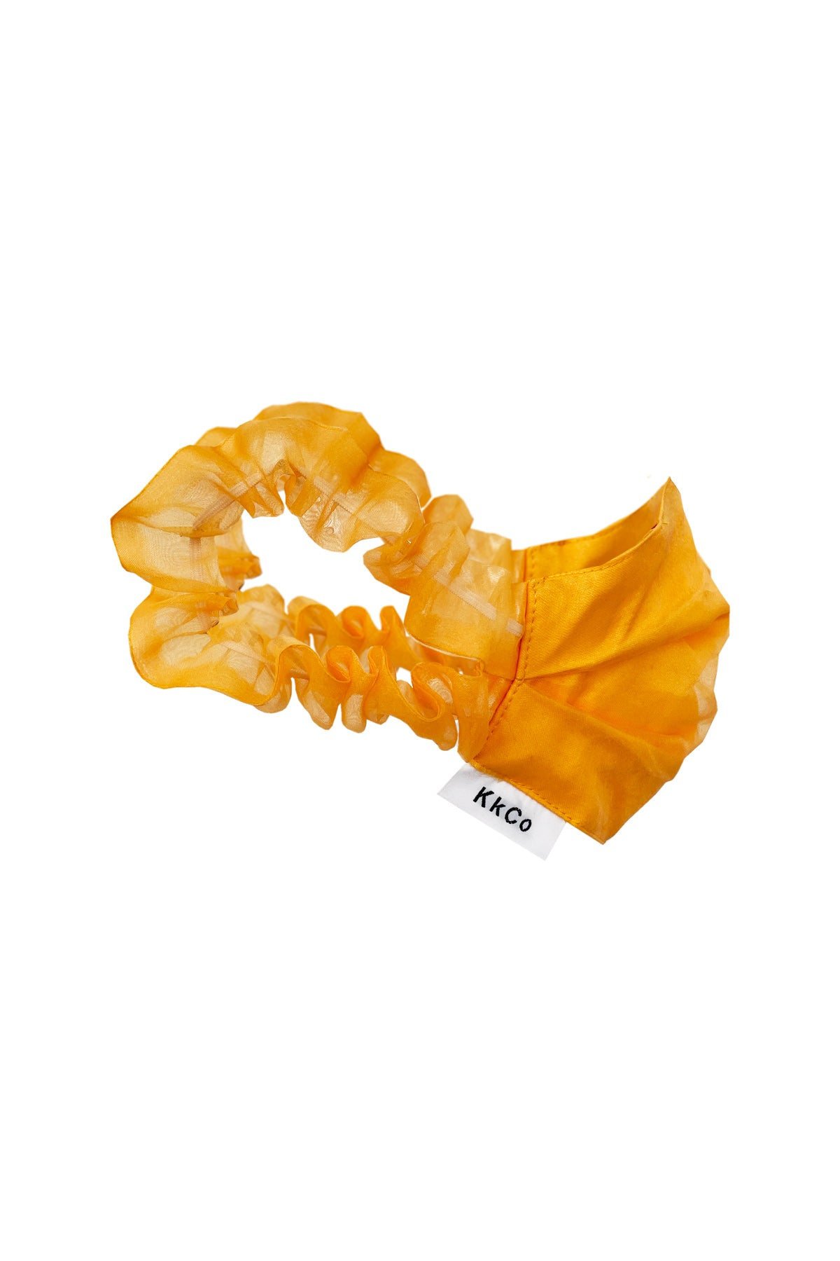 Face Mask in Tangerine Organza