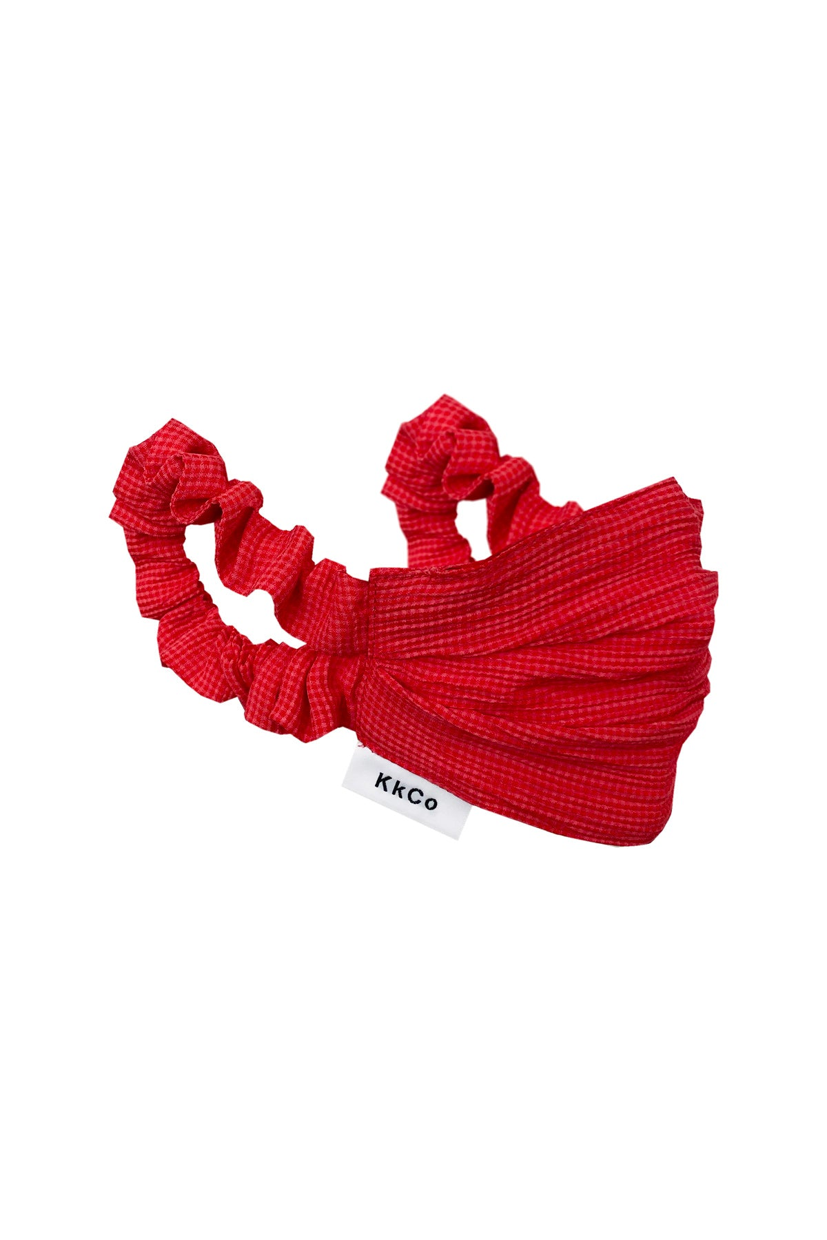 Face Mask in Red Check