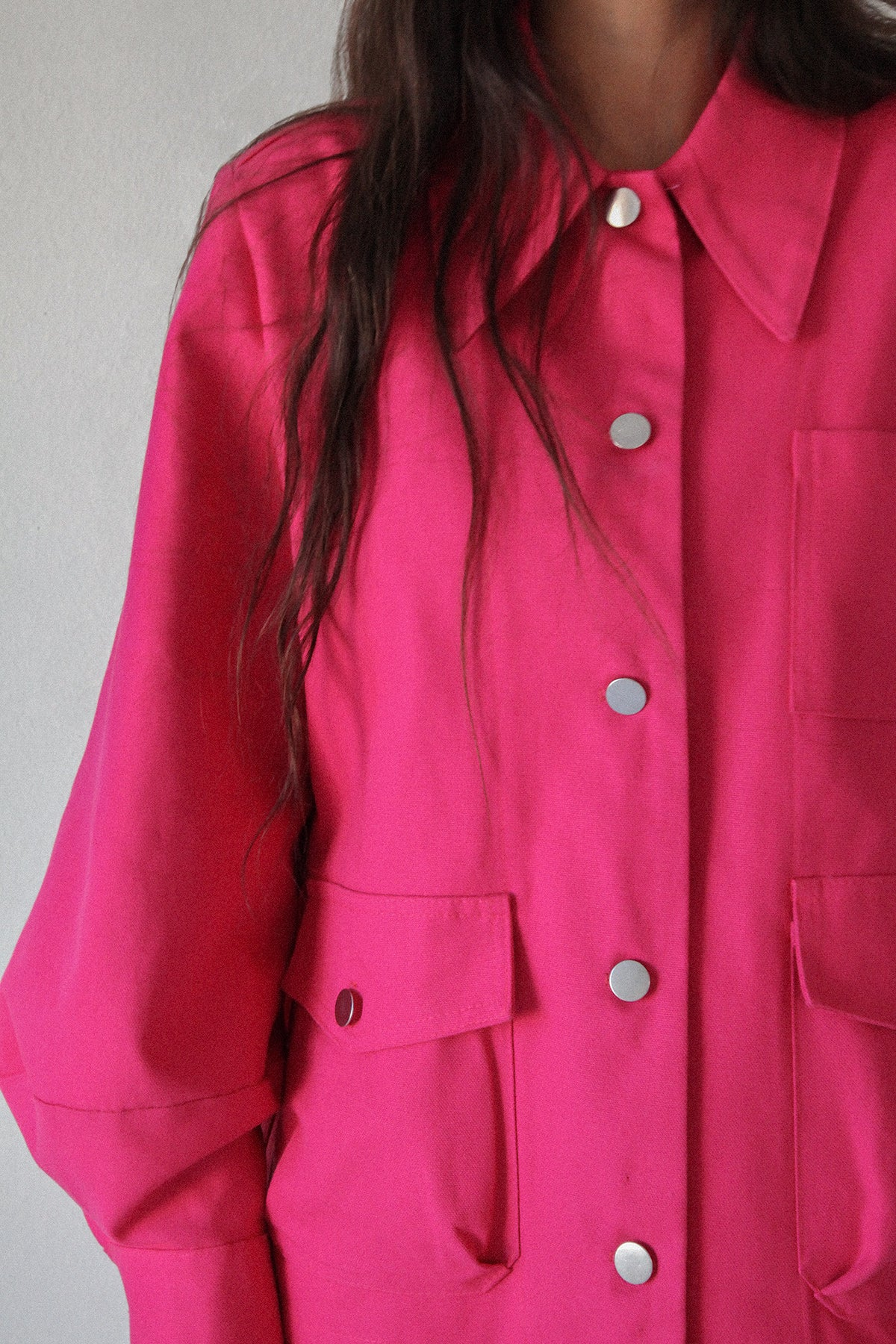 Utility Jacket in Fuchsia