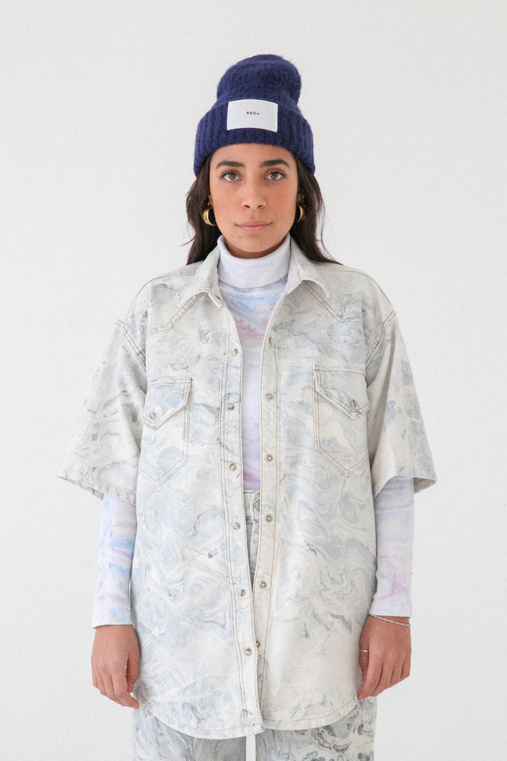 Canyon Shirt in Marble Dye