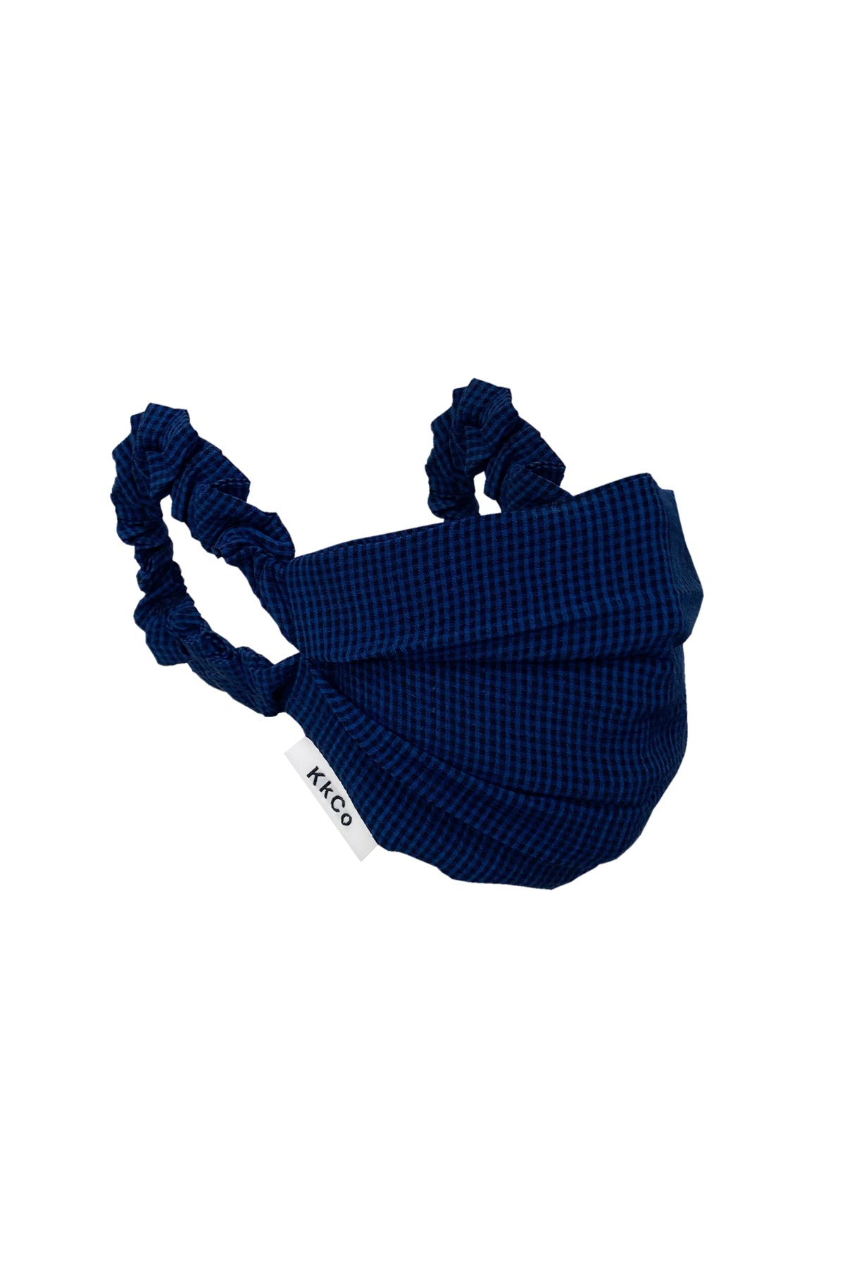 Face Mask in Navy Check