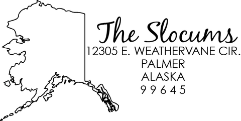 Alaska Address Stamp