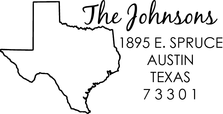Texas Address Stamp