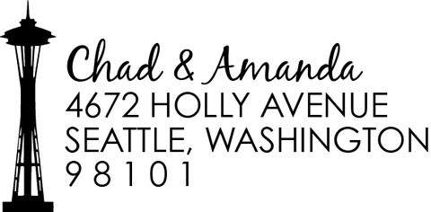 Seattle Space Needle Address Stamp
