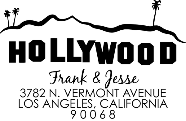 Hollywood Address Stamp