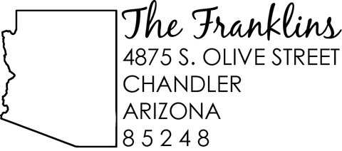 Arizona Address Stamp