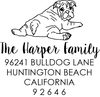 Bulldog Address Stamp