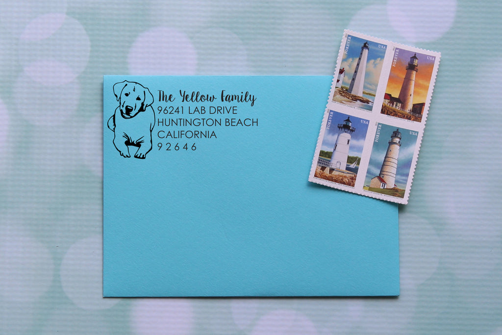 Labrador Address Stamp