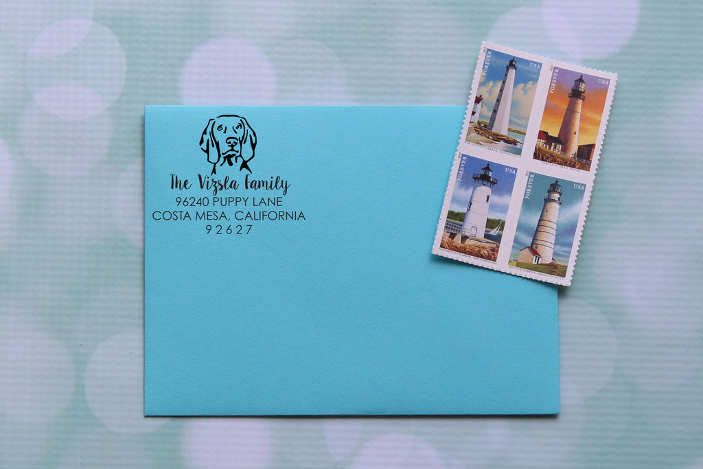 Vizsla Address Stamp