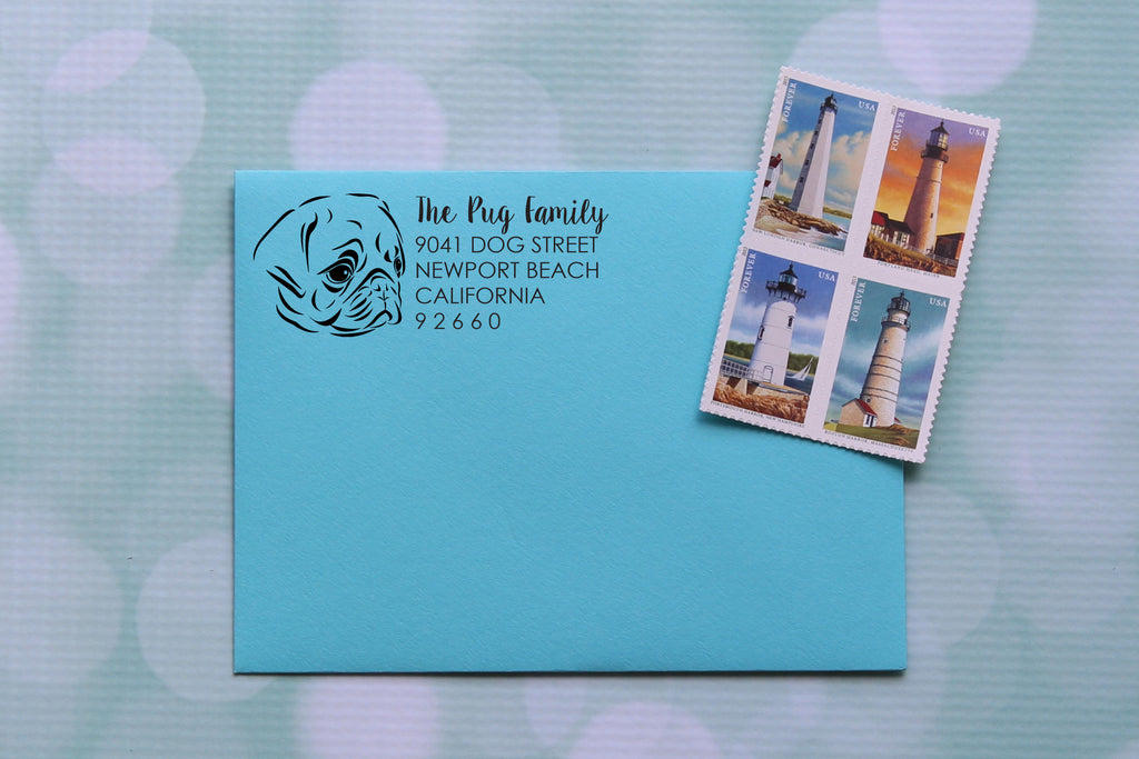 Pug Face Address Stamp