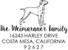 Weimaraner Address Stamp