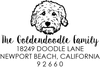 Goldendoodle Address Stamp