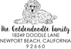 Goldendoodle Puppy Address Stamp