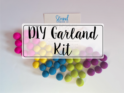DIY Felt Ball Garland Kit