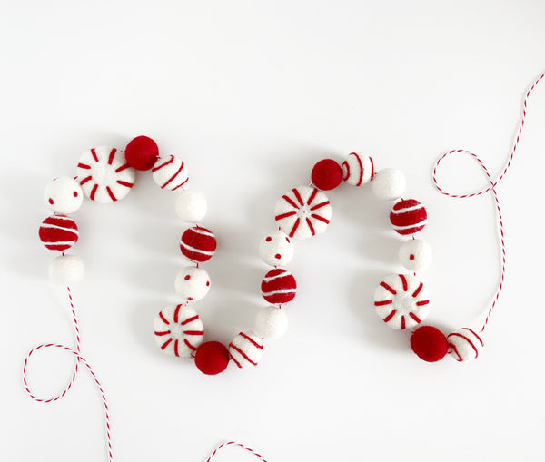 Candy Cane Lane Peppermint Garland