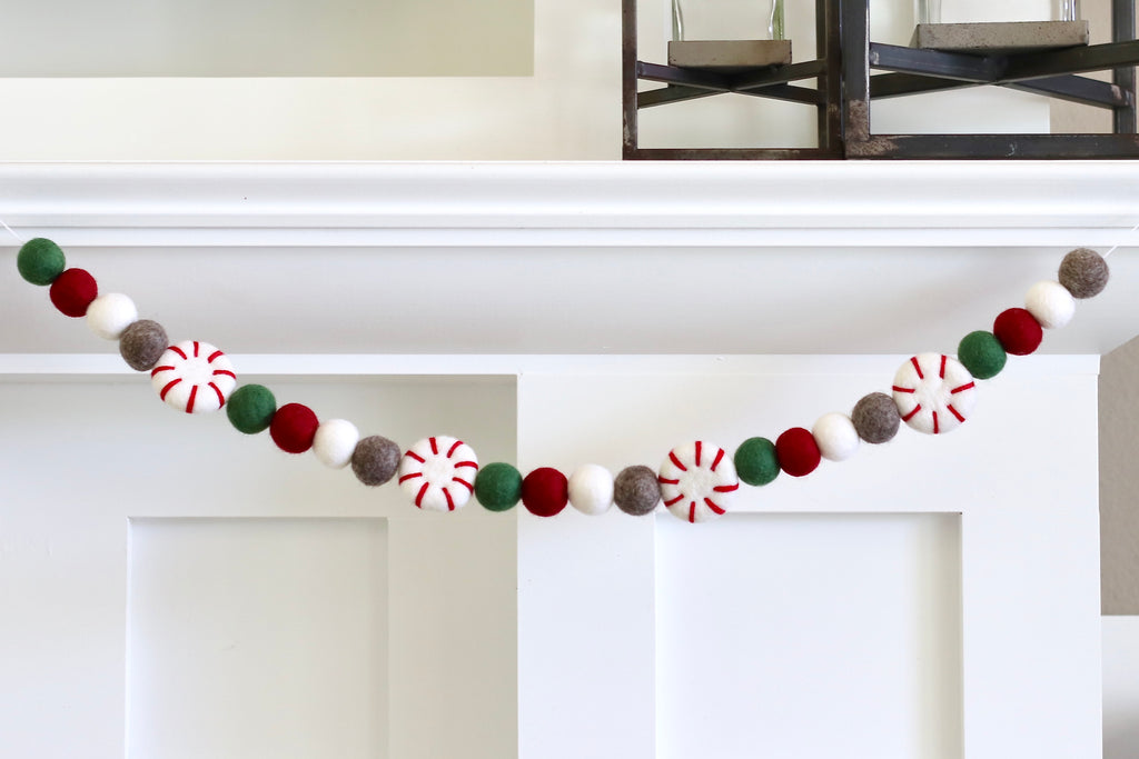 Christmas Sweater Peppermint Garland