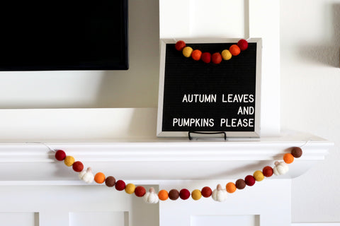 Autumn Leaves Pumpkin Garland