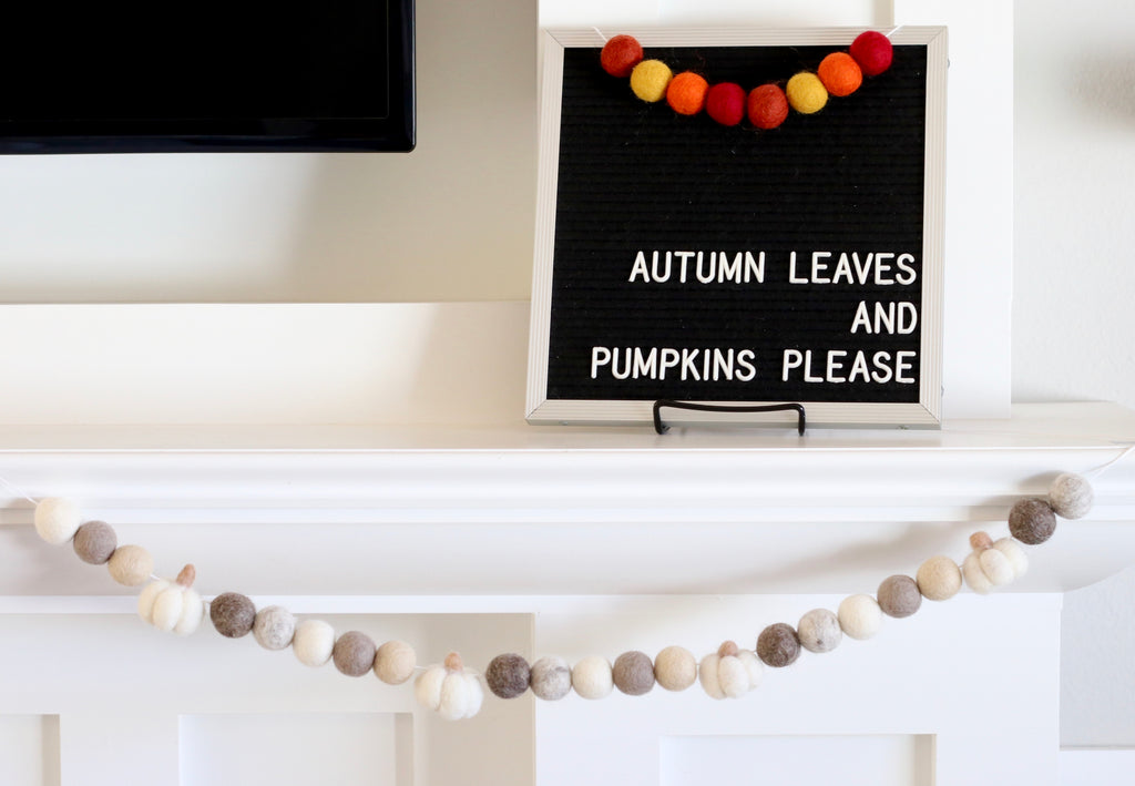 Neutral Pumpkin Garland