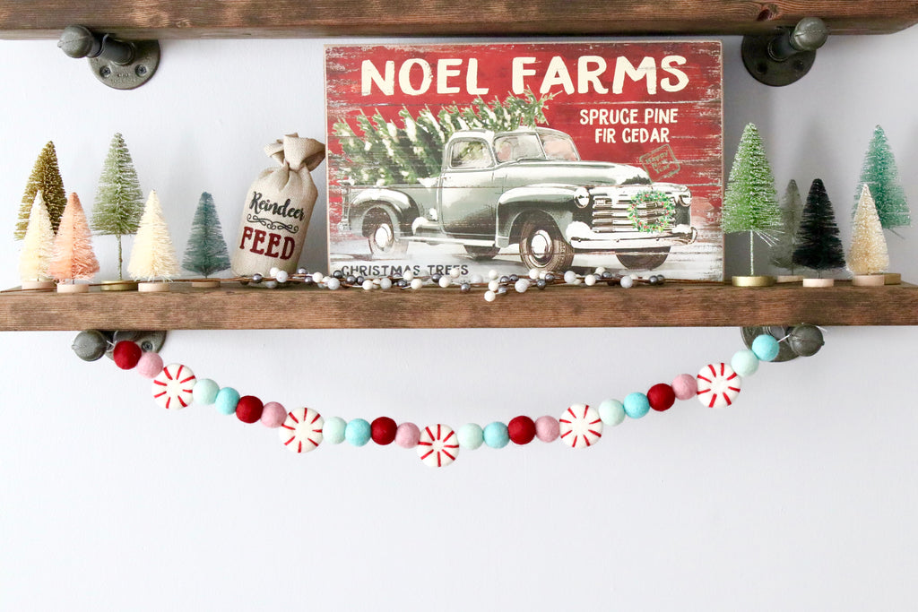 Mint Peppermint Garland