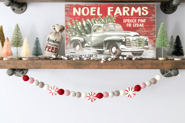 Blush Peppermint Garland
