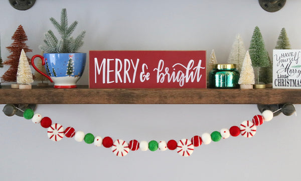 Jolly Peppermint Garland