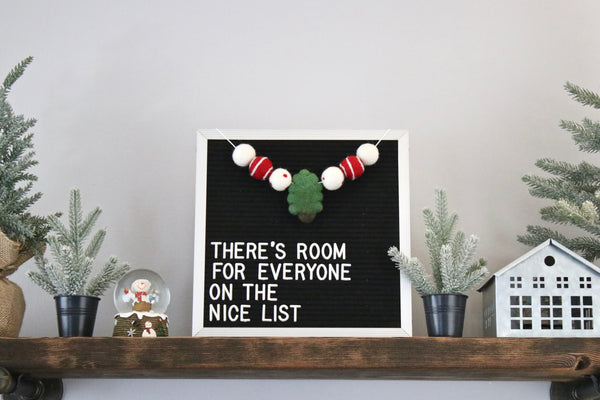 Merry Trees Letter Board Garland