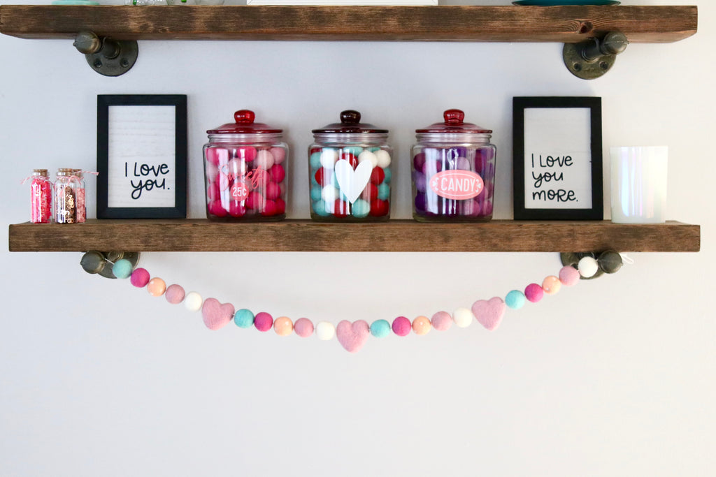 Blushing Heart Garland
