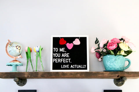 Heart Trio Letter Board Garland