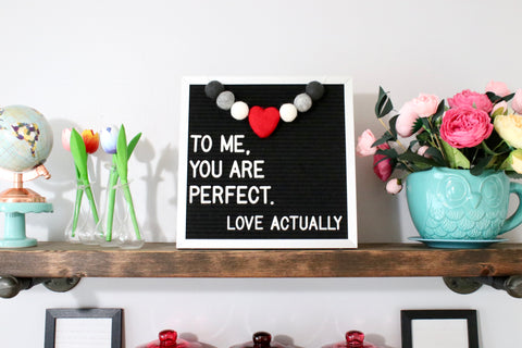 Beloved Heart Letter Board Garland